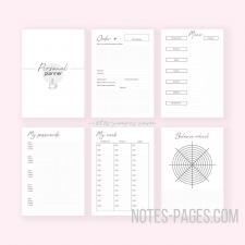 шаблоны для распечатки на принтере